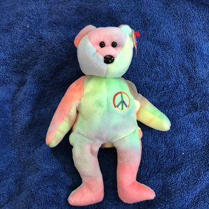 Peace beanie baby with tag for Sale in St. Helens, OR