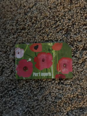EMPTY Pier1imports gift card with a cut corner in the top right for Sale in New London, MO