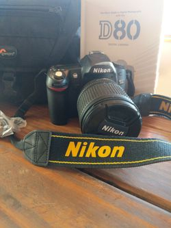 Nikon D80, Padded Camera Bag, Reference Books for Sale in Cornville,  AZ
