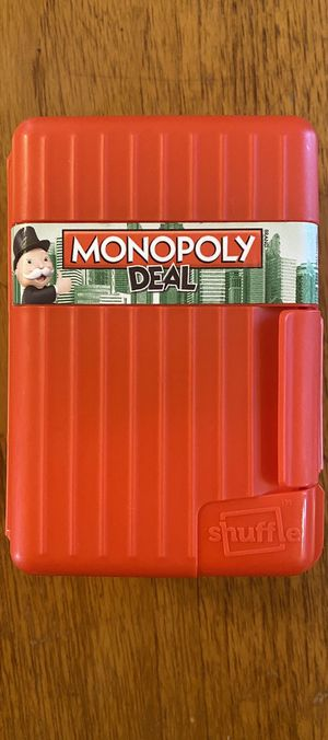 Monopoly Deal card game/board game with hardshell case for Sale in Phoenix, AZ