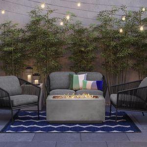 Patio Loveseat + 2 Patio Club Chairs In Dark Gray - Outdoor Furniture for Sale in Miami, FL