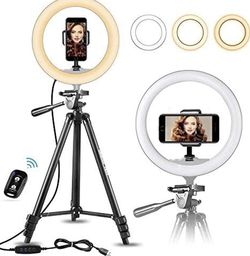 """10"""" Selfie Ring Light with 50"""" Extendable Tripod Stand for Sale in Atlanta,  GA"""