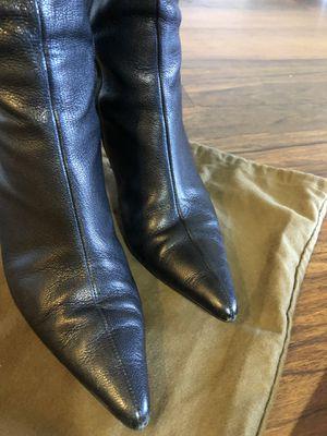 Gucci black leather boots for Sale in Atlanta, GA