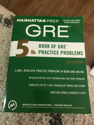 GRE Book of Practice Problems for Sale in Seattle, WA