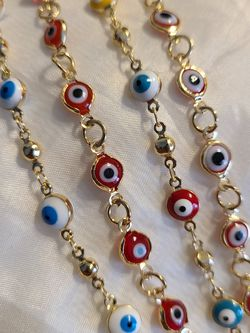 Evil Eye Bracelets Gold Plated/Oro Laminado $10 Ea for Sale in Tacoma,  WA