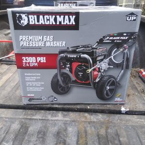 Pressure Washer 3300 PSI Black Max Gas Powered for Sale in Tacoma, WA