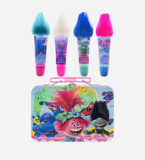 Trolls Lip Gloss With Storage Tin