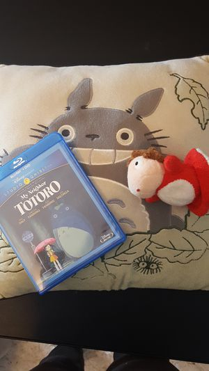 Totoro movie & pillow, bonus ponyo ornament for Sale in Washington, DC