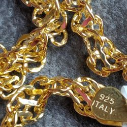 """New 14k Gold Plated. Sterling Silver Chain (16"""") - Shipping Only for Sale in Fort Lauderdale,  FL"""