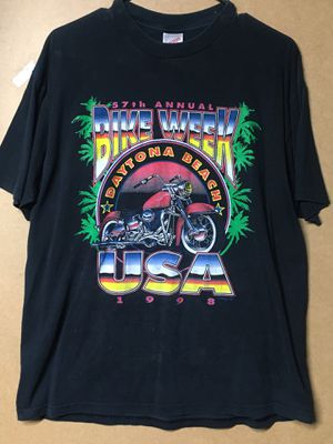 57th Annual Bike Week Black Large T-Shirt for Sale in Harrodsburg, KY