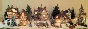 Heritage village collection...6 buildings with all accessories including figurines and trees $175.00 Pick up in Westlake Ohio for Sale in Westlake, OH