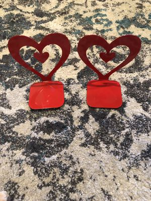 Red Heart Metal Bookends for Sale in Burnt Chimney, VA