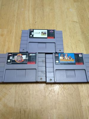Super Nintendo games for Sale in Knightdale, NC