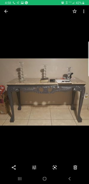 4pc real marble table from Ashley furniture for Sale in Phoenix, AZ
