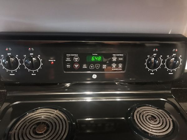Black GE Electric Stove