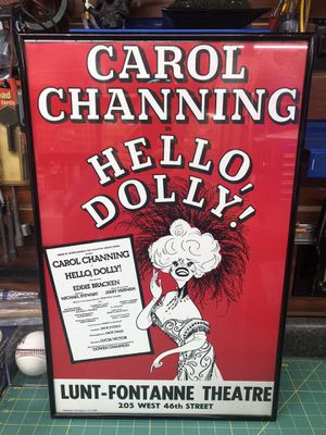 Carol Channing - Hello Dolly play poster. for Sale in Indian Rocks Beach, FL