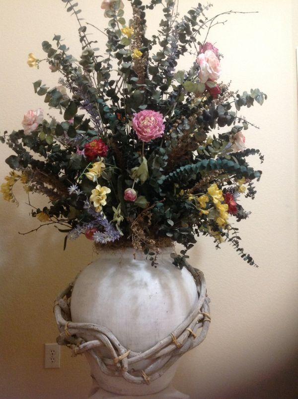 LARGE FLOWER FLOOR VASES
