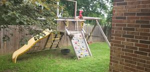 Rainbow playscape. Needs new canopy cover. And 2 new wood pieces for canopy. Buyers needs to pickup for Sale in Austin, TX
