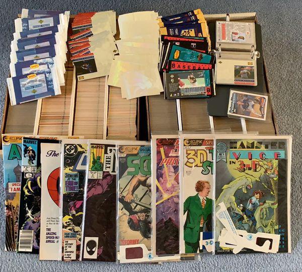 Baseball cards all maxed +9 comic books
