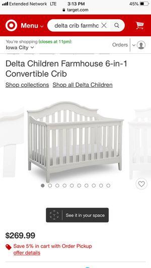 Delta Farmhouse 6 n 1 crib for Sale in Barnard, MO