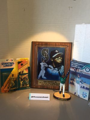 Lot of 3 Hall of Famer Ken Griffey Jr. Collectible Items for Sale in San Bruno, CA