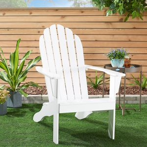 Mainstays Wooden Outdoor Adirondack Chair, White Finish, Solid Hardwood for Sale in Houston, TX