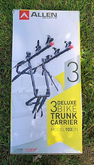 Deluxe 3 Bike Trunk Carrier *New* for Sale in Augusta, MI