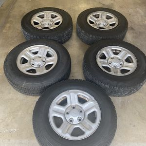 Jeep Wheels And Tires Set Of Five 225/75r/15 5x5 Bolt Pattern for Sale in Arvada, CO