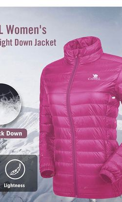 Womens Down Jacket Lightweight Packable Puffer Down Coats Short Parka Jackets Winter Coats with 4 Pockets size (M) for Sale in Hialeah,  FL