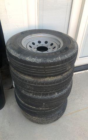 5 trailer tires and wheels for Sale in Rancho Cucamonga, CA