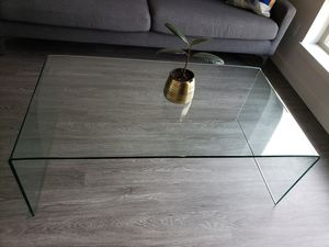 Glass Waterfall Coffee Table for Sale in Portland, OR