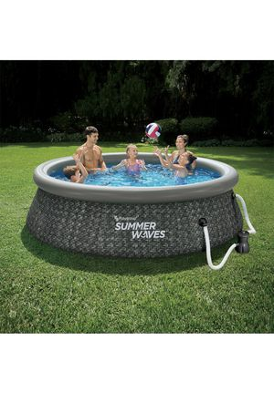Summer Waves 10 x 30in wicker finish Quick Set Pool including Filter and Pump! for Sale in Cleveland, OH