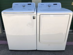 SAMSUNG VRT TOP LOAD WASHER AND ELECTRIC DRYER SET for Sale in Fort Worth, TX