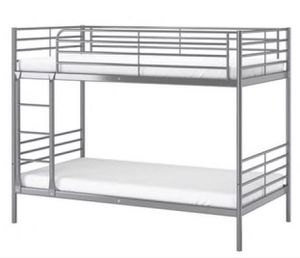 TWIN OVER TWIN BUNK BED NO MATTRESS for Sale in Alexandria, VA