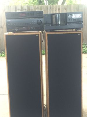 Stereo system with eq, 100 disk CD player and stereo receiver for Sale in Beachwood, OH