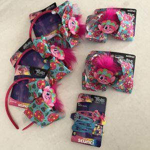 Trolls Girls Headband, Hair Clips, Bow Clip for Sale in Los Angeles, CA