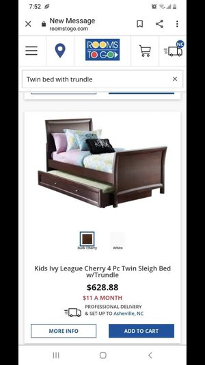 Twin Size bed w/ trundle for Sale in Hendersonville, NC