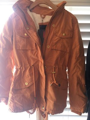 Orange soft cotton jacket for Sale in Ontario, CA