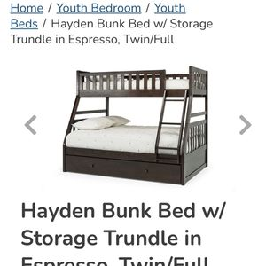 Twin/Full Bunk Bed With Both Mattress for Sale in Redmond, WA