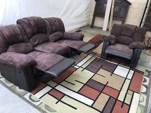 $200 sofa and chair Recliner both SAN BERNARDINO for Sale in Loma Linda, CA