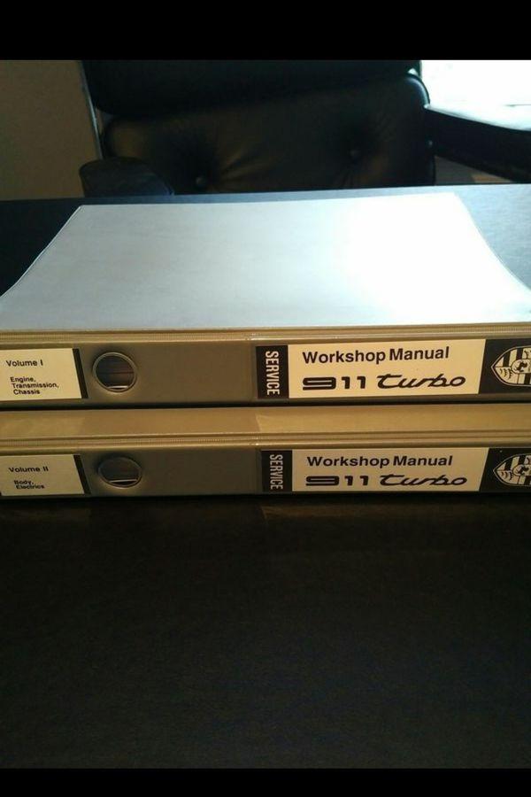 Authentic PORSCHE 911 Turbo 930 Factory Service Manuals