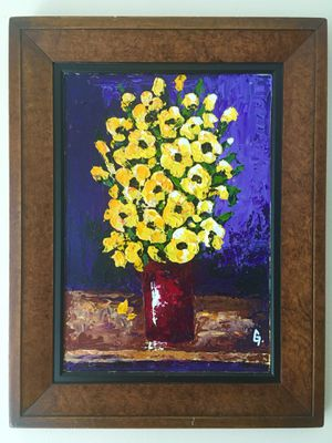 Original acrylic painting with frame for Sale in West Palm Beach, FL
