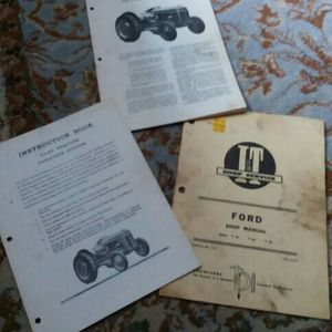Manual Ford Tractors , 3books for Sale in Valparaiso, IN