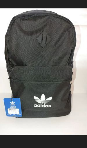 Adidas Originals Base Backpack 3 Stripes Trefoil Backpack, Black/ White, NEW for Sale in Phoenix, AZ