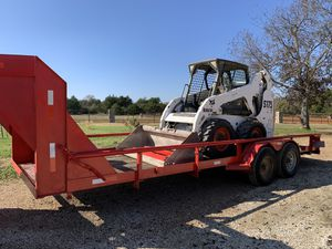 s175 diesel bobcat and 20 ft gooseneck flatbed trailer. Title in hand for Sale in Hockley, TX
