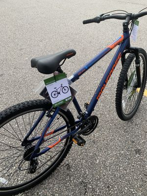 Mongoose Exhibit Mountain Bike, 29-inch wheels, 21 speeds, blue for Sale in Weymouth, MA