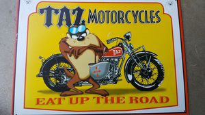 Taz motorcycle tin sign for Sale in Los Angeles, CA