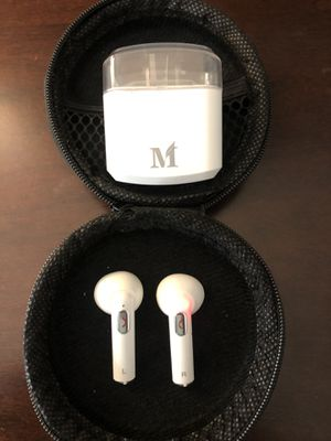 APPLE WIRELESS EAR PODS ANDROID GALAXY LG IPAD MACBOOK MAC PRO AIRPODS BLUETOOTH WIRELESS HEADPHONES WITH CHARGING CASE for Sale in Costa Mesa, CA