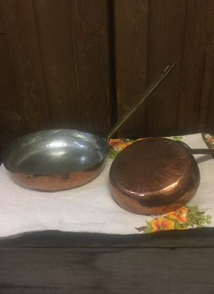 Vintage Copper Pans for Sale in Snoqualmie, WA