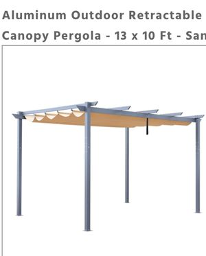 Canopy Pergola aluminum 13.1 x 9.7 x 7.9 Feet Color: Sand for Sale in Long Beach, CA